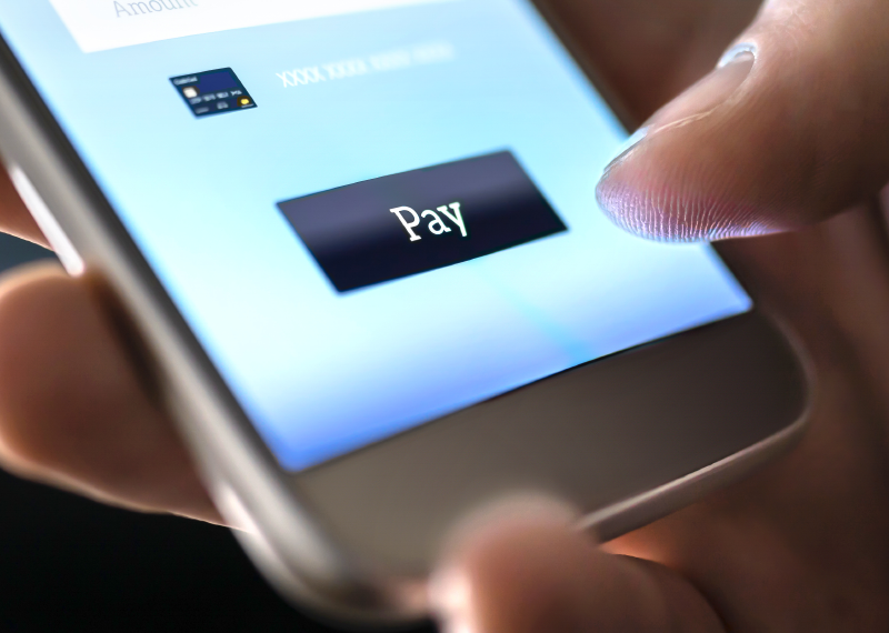 paying on a mobile device